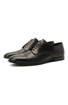 Мужские кожаные дерби H`D`S`N BARACCO черного цвета, арт. 71200.0* | Фото 1