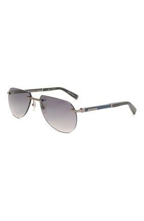 Мужские солнцезащитные очки ZILLI серебряного цвета, арт. MIP-65043-LUNET/0001 | Фото 1