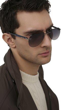 Мужские солнцезащитные очки ZILLI серебряного цвета, арт. MIP-65043-LUNET/0001 | Фото 2