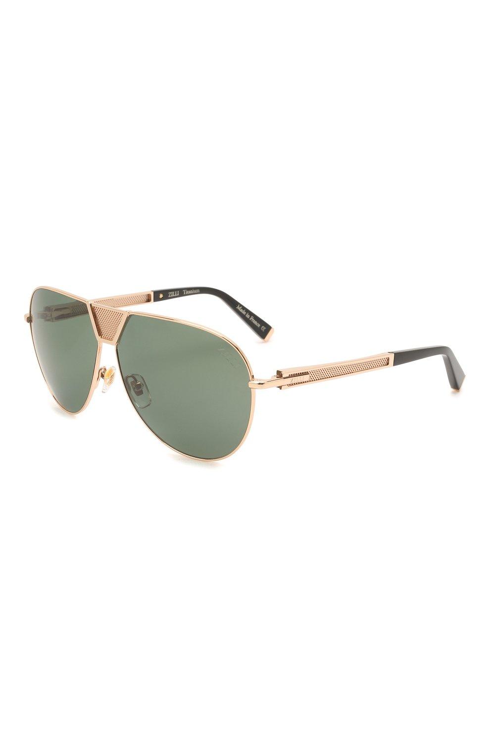 Мужские солнцезащитные очки ZILLI золотого цвета, арт. MIP-65045-LUNET/0001 | Фото 1