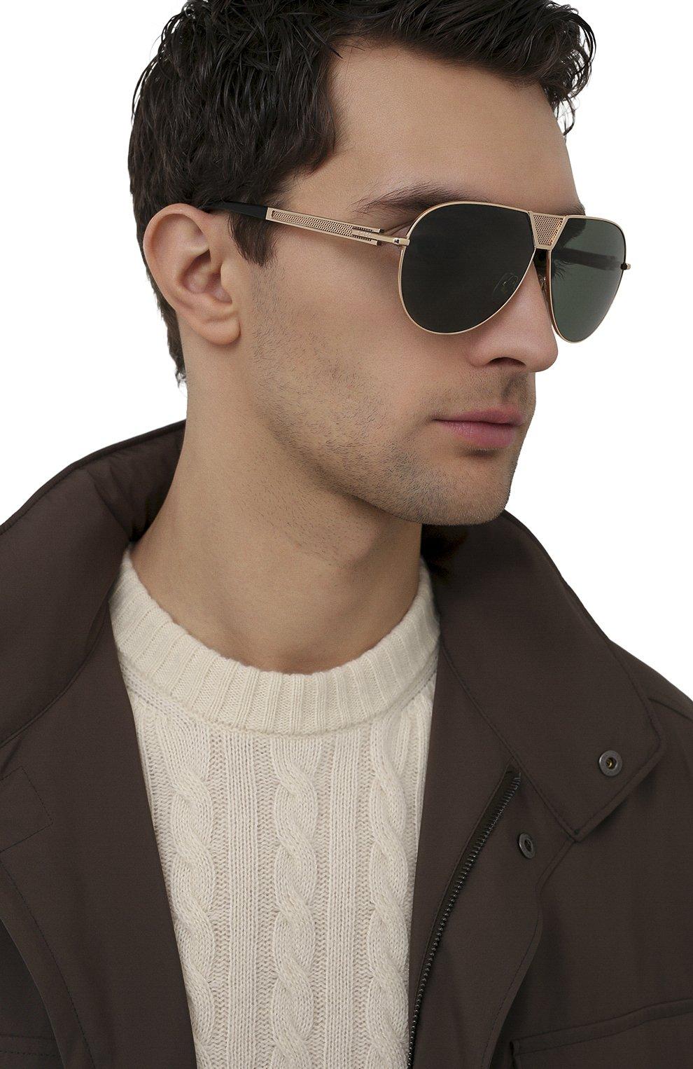 Мужские солнцезащитные очки ZILLI золотого цвета, арт. MIP-65045-LUNET/0001 | Фото 2