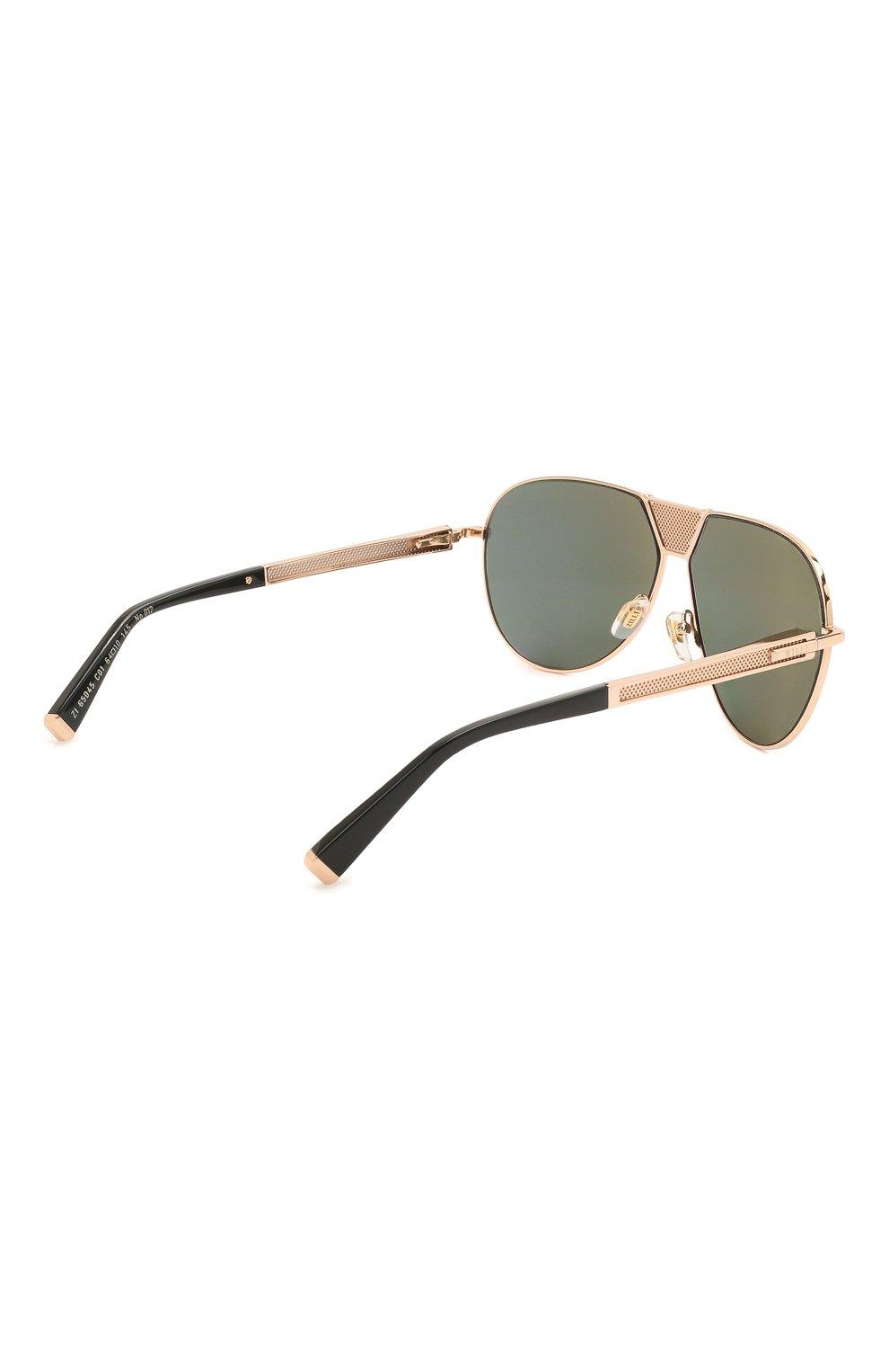 Мужские солнцезащитные очки ZILLI золотого цвета, арт. MIP-65045-LUNET/0001 | Фото 4