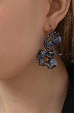 Женские серьги toxic DZHANELLI серого цвета, арт. 0260 | Фото 2