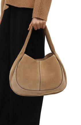 Женская сумка aou TOD'S бежевого цвета, арт. XBWA0US0300P3A   Фото 2