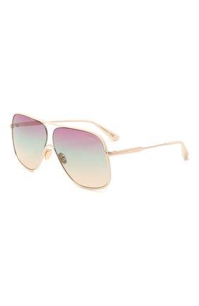Женские солнцезащитные очки TOM FORD светло-бежевого цвета, арт. TF841 | Фото 1