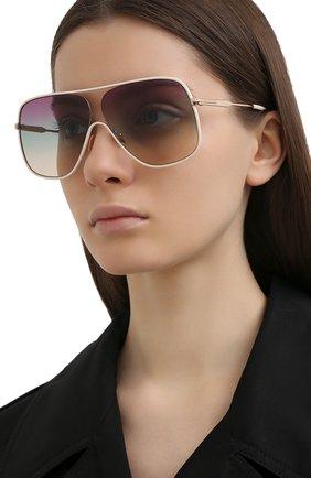 Женские солнцезащитные очки TOM FORD светло-бежевого цвета, арт. TF841 | Фото 2