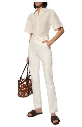 Женские кожаные шлепанцы BOTTEGA VENETA темно-коричневого цвета, арт. 608853/VBSS0 | Фото 2