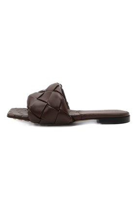 Женские кожаные шлепанцы lido BOTTEGA VENETA темно-коричневого цвета, арт. 608853/VBSS0 | Фото 4