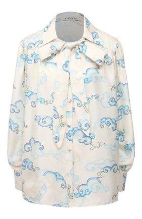 Женская шелковая блузка LANVIN бежевого цвета, арт. RW-T0601I-4832-P21 | Фото 1