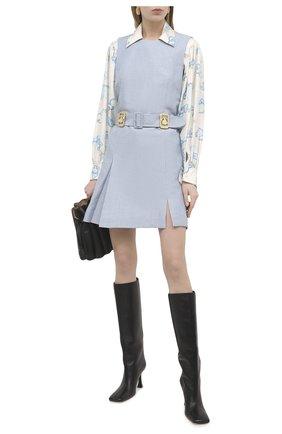 Женская шелковая блузка LANVIN бежевого цвета, арт. RW-T0601I-4832-P21 | Фото 2