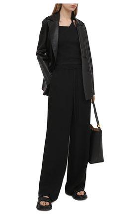 Женский хлопковый топ HELMUT LANG черного цвета, арт. K10HW511 | Фото 2