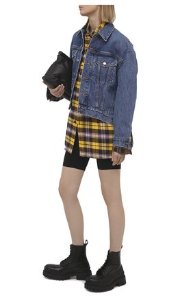 Женские шорты HELMUT LANG черного цвета, арт. K10HW202 | Фото 2