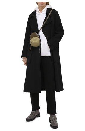 Женские кожаные ботинки jesse STUART WEITZMAN серого цвета, арт. S0425 | Фото 2