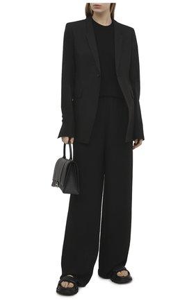 Женский хлопковый жакет RICK OWENS черного цвета, арт. RP21S3751/P   Фото 2