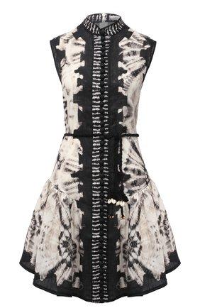 Женское льняное платье ZIMMERMANN черно-белого цвета, арт. 1014DLLU | Фото 1