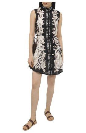 Женское льняное платье ZIMMERMANN черно-белого цвета, арт. 1014DLLU | Фото 2