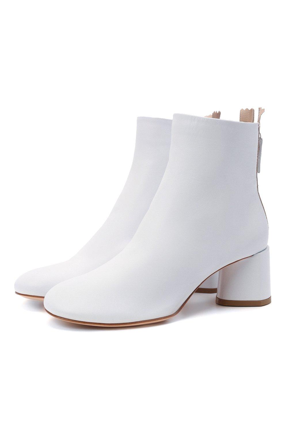 Женские кожаные ботильоны AGL белого цвета, арт. D150507PES0FTY0102 | Фото 1 (Подошва: Платформа; Материал внутренний: Натуральная кожа, Текстиль; Каблук высота: Средний; Каблук тип: Устойчивый)