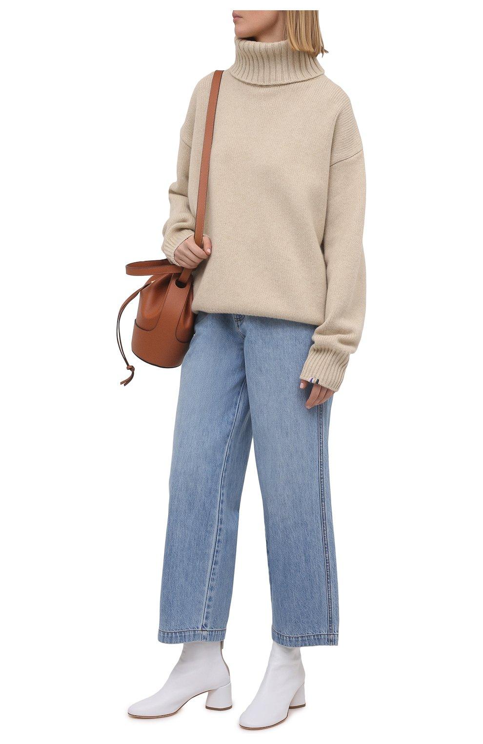 Женские кожаные ботильоны AGL белого цвета, арт. D150507PES0FTY0102 | Фото 2 (Подошва: Платформа; Материал внутренний: Натуральная кожа, Текстиль; Каблук высота: Средний; Каблук тип: Устойчивый)