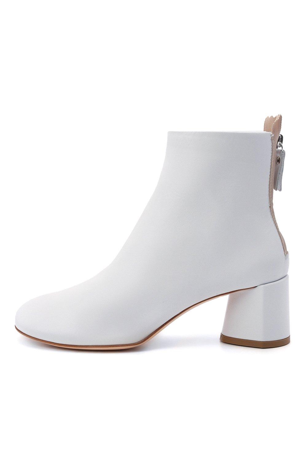 Женские кожаные ботильоны AGL белого цвета, арт. D150507PES0FTY0102 | Фото 3 (Подошва: Платформа; Материал внутренний: Натуральная кожа, Текстиль; Каблук высота: Средний; Каблук тип: Устойчивый)