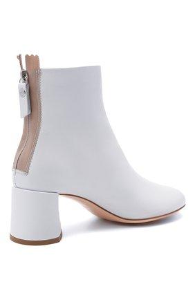 Женские кожаные ботильоны AGL белого цвета, арт. D150507PES0FTY0102 | Фото 4 (Подошва: Платформа; Материал внутренний: Натуральная кожа, Текстиль; Каблук высота: Средний; Каблук тип: Устойчивый)