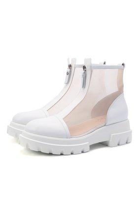 Женские комбинированные ботинки AGL белого цвета, арт. D756559PGKD041D056   Фото 1