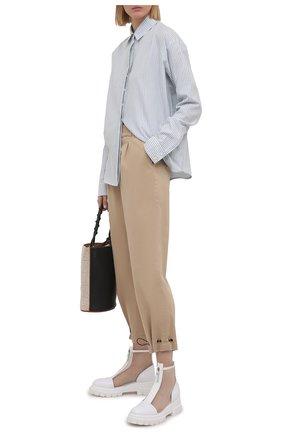 Женские комбинированные ботинки AGL белого цвета, арт. D756559PGKD041D056   Фото 2