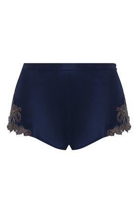 Женские шелковые шорты LA PERLA темно-синего цвета, арт. 0019228/0261 | Фото 1