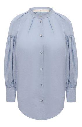 Женская хлопковая рубашка TELA голубого цвета, арт. 01 0155 02 0008 | Фото 1