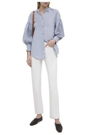 Женская хлопковая рубашка TELA голубого цвета, арт. 01 0155 02 0008 | Фото 2