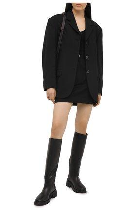 Женская юбка DRIES VAN NOTEN черного цвета, арт. 211-10810-2044 | Фото 2