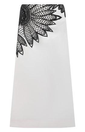Женская хлопковая юбка DRIES VAN NOTEN белого цвета, арт. 211-10809-2292 | Фото 1