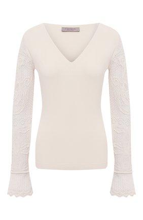 Женский пуловер D.EXTERIOR светло-бежевого цвета, арт. 52345   Фото 1