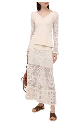 Женская юбка D.EXTERIOR светло-бежевого цвета, арт. 52342 | Фото 2