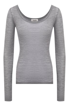 Женский шерстяной пуловер NANUSHKA серого цвета, арт. BETH_LIGHT GREY_SUPER FINE MERIN0 KNIT | Фото 1