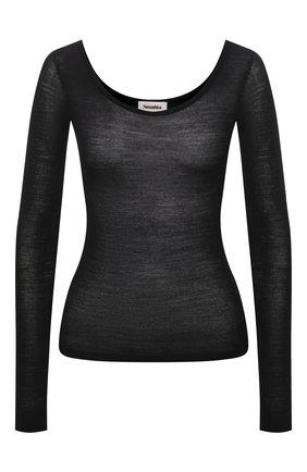 Женский шерстяной пуловер NANUSHKA черного цвета, арт. BETH_BLACK_SUPER FINE MERIN0 KNIT | Фото 1