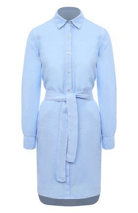 Женское льняное платье 120% LINO голубого цвета, арт. T0W49AZ/0115/000 | Фото 1