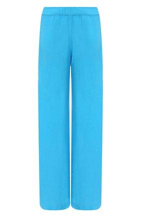 Женские льняные брюки 120% LINO голубого цвета, арт. T0W2297/0115/000 | Фото 1