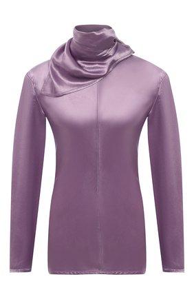 Женская блузка BOTTEGA VENETA сиреневого цвета, арт. 648952/V0CS0 | Фото 1