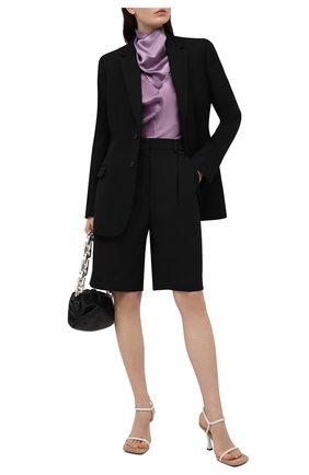 Женская блузка BOTTEGA VENETA сиреневого цвета, арт. 648952/V0CS0 | Фото 2
