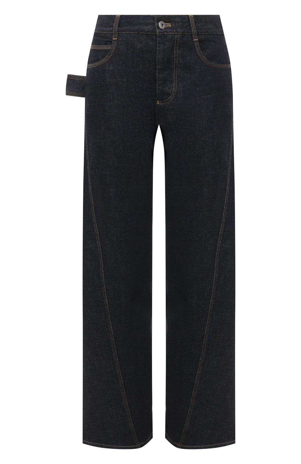 Женские джинсы BOTTEGA VENETA темно-синего цвета, арт. 646641/V08Y0   Фото 1