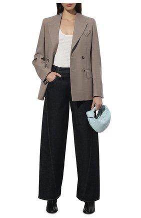 Женские джинсы BOTTEGA VENETA темно-синего цвета, арт. 646641/V08Y0   Фото 2