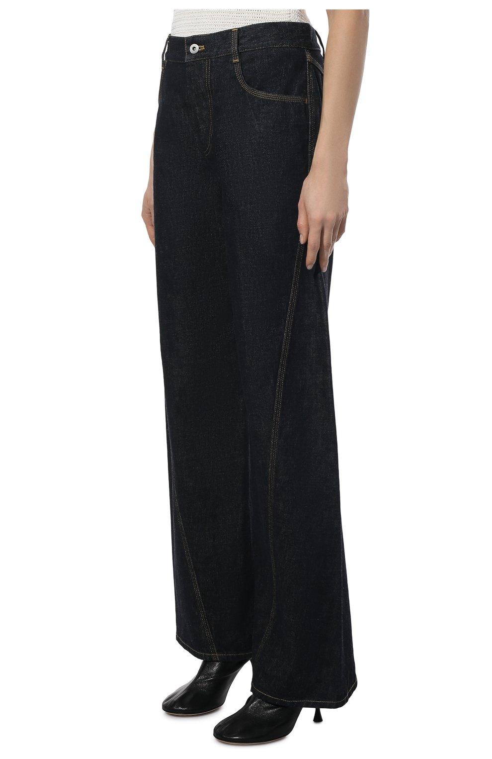Женские джинсы BOTTEGA VENETA темно-синего цвета, арт. 646641/V08Y0   Фото 3