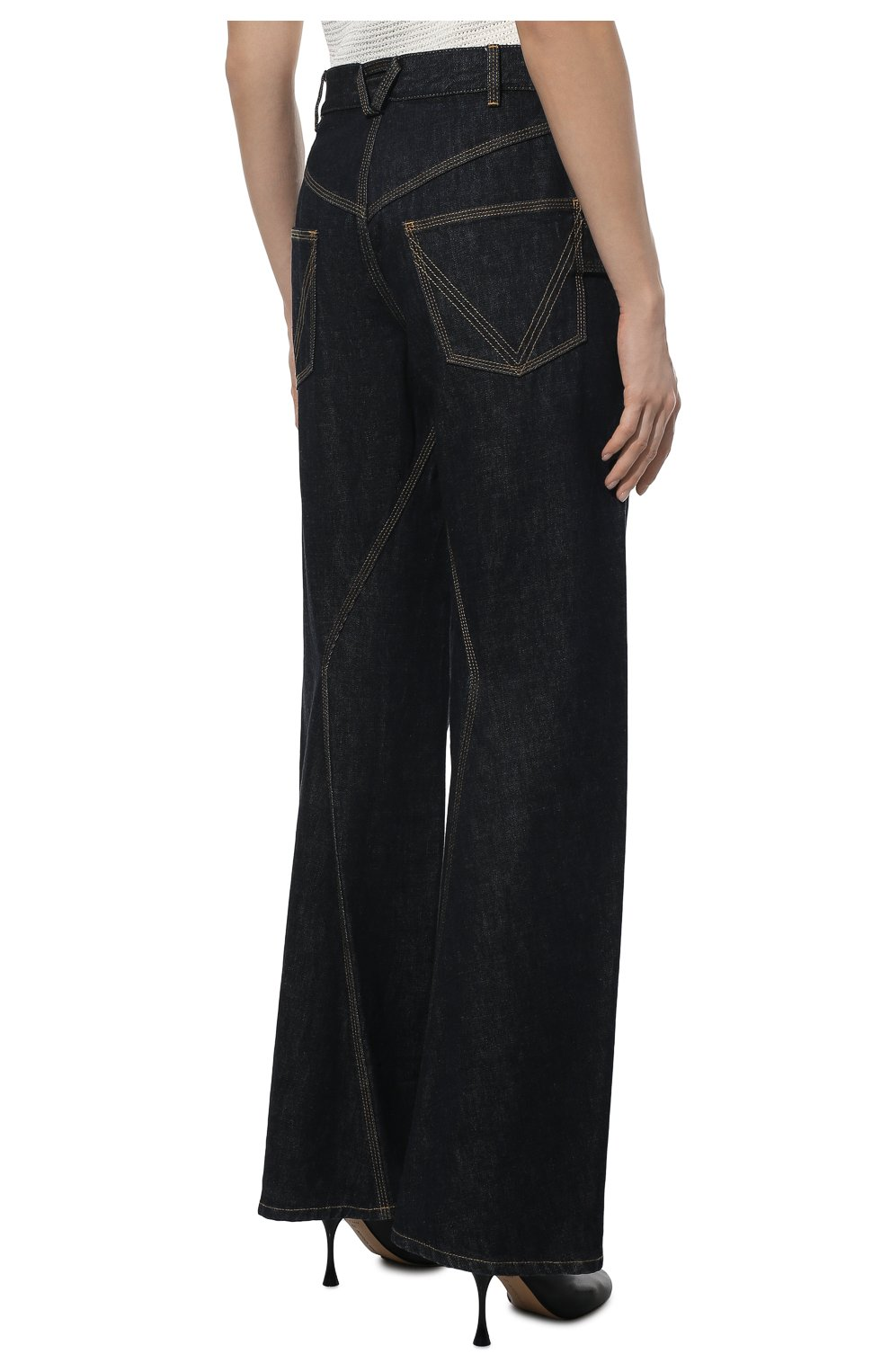 Женские джинсы BOTTEGA VENETA темно-синего цвета, арт. 646641/V08Y0   Фото 4