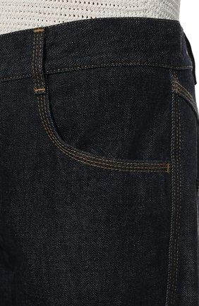 Женские джинсы BOTTEGA VENETA темно-синего цвета, арт. 646641/V08Y0   Фото 5