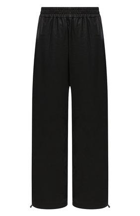 Женские кожаные брюки BOTTEGA VENETA темно-коричневого цвета, арт. 652882/VKVL0 | Фото 1