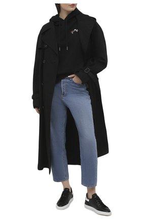Женские кожаные кеды  CASADEI черного цвета, арт. 2X853S0201SALEN9000 | Фото 2