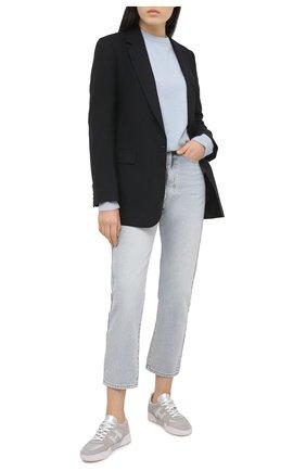 Женские комбинированные кроссовки h357 HOGAN серого цвета, арт. HXW3570AC40P9E | Фото 2