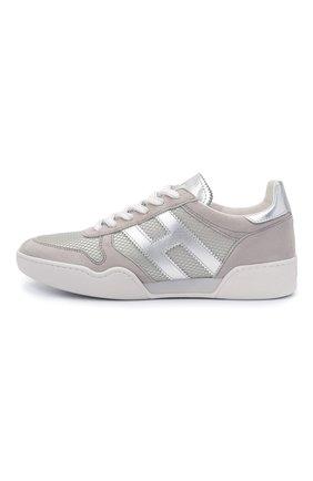 Женские комбинированные кроссовки h357 HOGAN серого цвета, арт. HXW3570AC40P9E | Фото 3