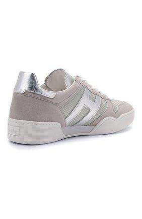 Женские комбинированные кроссовки h357 HOGAN серого цвета, арт. HXW3570AC40P9E | Фото 4