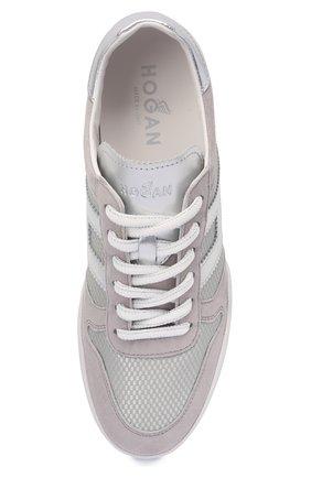 Женские комбинированные кроссовки h357 HOGAN серого цвета, арт. HXW3570AC40P9E | Фото 5